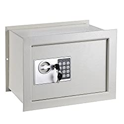 Electronic Safe Box Wall Inground 1.0 CF Digital Keypad Hotel Home Office Security Lock With Ebook