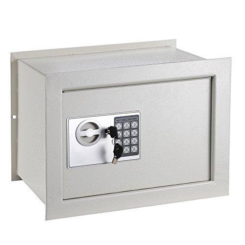 "Triprel Inc. 15x11x10"" Wall White Flat Recessed Box Safe Lock Digital Home Security Gun Cash"
