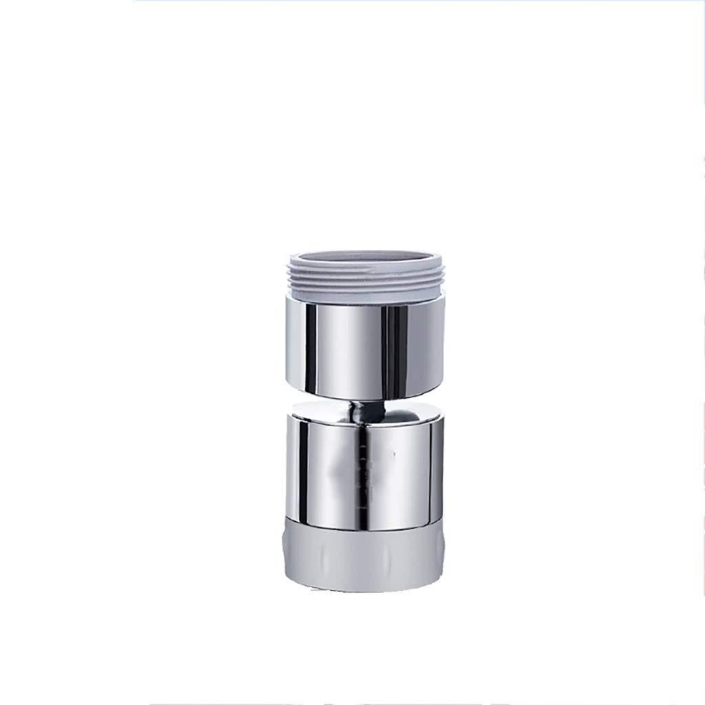 LTT Kitchen Sink Aerator Solid Brass - Big Angle Swivel Faucet Aerator Dual-Function 2 Sprayer - Swivel - Polished Chrome