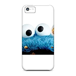 Elaney Iphone 5c Well-designed Hard Case Cover Cookie Monster Protector