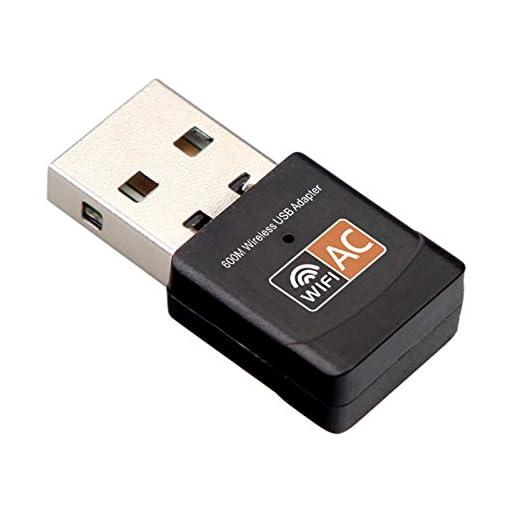WOSUK Wifi Dongle, AC600 802.11ac Dual Band 5GHz Mini Wireless Network USB Wifi Adapter for PC Desktop Laptop Tablet, Support Windows 10/8/7/Vista/XP/2000, Mac Os X 10.9-10.12