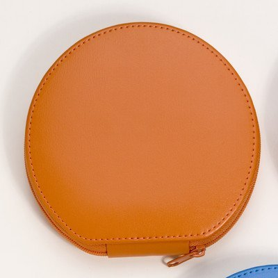 (Budd Leather Zippered Round Manicure Set, Orange, 1 Pound)
