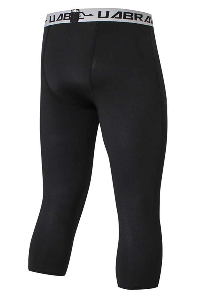 MISSMAO/_FASHION2019 3//4 Leggings de Compression pour Hommes,Collants de Sport /à S/échage Rapide et Haute /élasticit/é