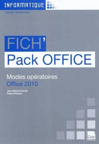 Fichpack Office : Modes opératoires Office 2010 Informatique ...