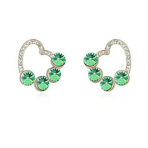 Earrings Embellished with Crystal from for Women 100% Drop Earrings Jewelry Accessories (Peridot)