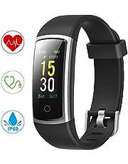 YONMIG Orologio Fitness Tracker, Smartwatch Pressione Sanguigna Cardiofrequenzimetro Bluetooth Activity Tracker IP68 Impermeabile Orologio Sportivo per Uomo Donna iOS Android