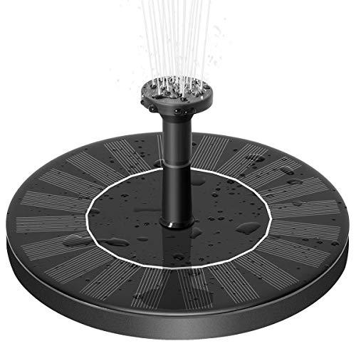 Zomma Solar Fountain Pump, Free Standing 1.4W Bird Bath Fountain Pump for Garden and Patio, Solar Panel Kit Water Pump