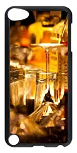 Fashion Customized Case for iPod Touch 5 Generation Black Cool Plastic Case Back Cover for iPod Touch 5th with Scotch And Water