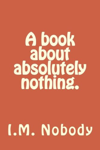 A book about absolutely nothing. pdf epub