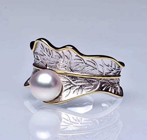 Akoya Saltwater Pearl Sterling Silver Ring ()