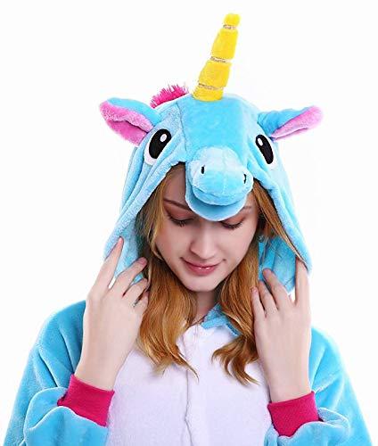 Licorne Unisex Adult Pajamas, Nousion Cosplay Christmas Unicorn Sleepwear Onesies Outfit  ()