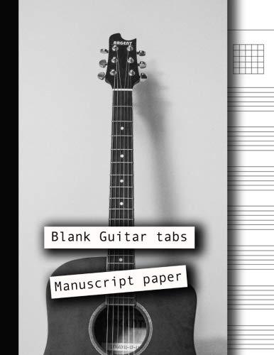Drum Books Tab (Blank Guitar tabs manuscript paper: 8.5 x 11