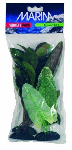 - Marina Ecoscaper Variety Pack including Echinodorus Silk Plant, Nupar Japonicum Silk Plant, and Lobelia Silk Plant