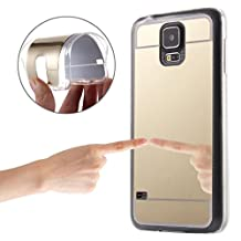 Samsung Case Cover Electroplating Mirror TPU Protective soft case rubber silicone skin cover case for Samsung Galaxy S5 / G900 ( Color : Gold )