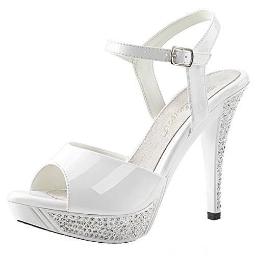 Heels-Perfect Sandalias de Vestir de Material Sintético Para Mujer Weiss (weiss)