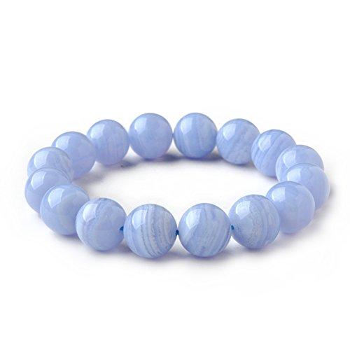 - Embellishment Blue agate bracelet/Crystal fashion jewelry-B