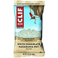 CLIF CLIF BAR White Chocolate Macadamia (Box of 12), 12 x 68 g