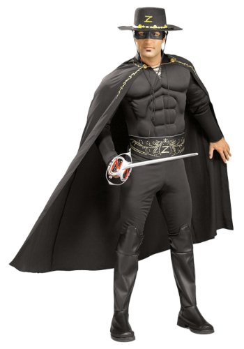Rubie's Men's Deluxe Muscle Chest Zorro Costume, Black, One Size for $<!--$45.79-->