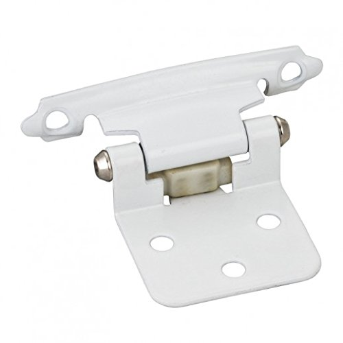 25 Pair (50 pieces) Traditional Overlay Flush Cabinet Hinges with semi-concealed frame wing (Semi Concealed)