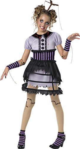 [InCharacter Fractured Marionette Costume, Multicolor, Medium] (Marionette Girl Costume)