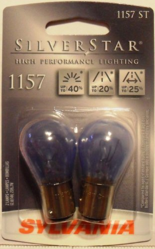 SYLVANIA 1157 SilverStar High Performance Miniature Bulb, (Contains 2 Bulbs)