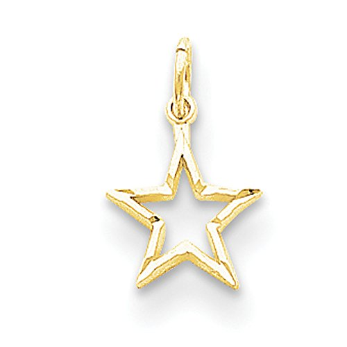 10K Gold Star Charm Pendant (yellow-gold)