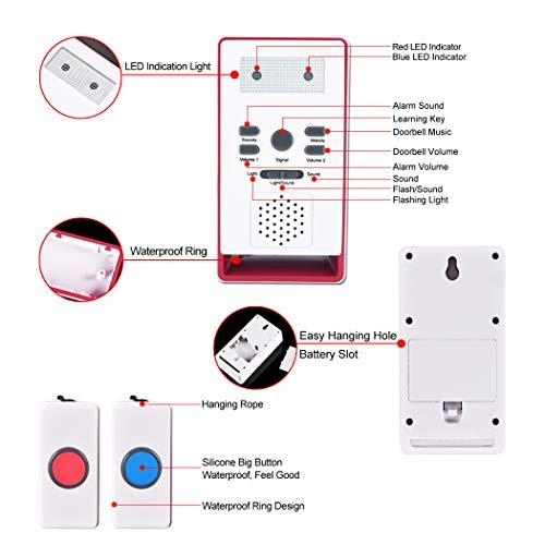 ... con sistema de alarma inalámbrico para el cuidado de la alarma, botón de llamada de emergencia, monitor de anciano, dispensador de seguridad personal ...