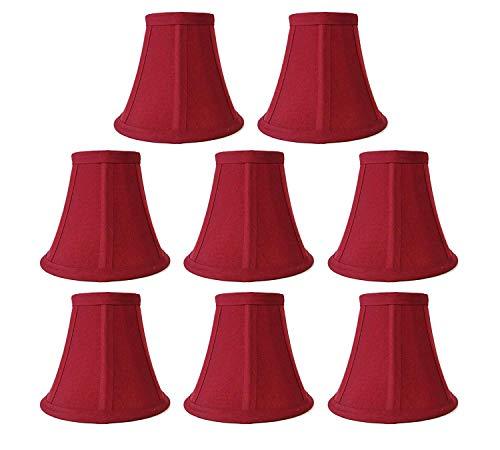 - Premium Quality 8-Pack Mini Bell Lamp Shade Lampshade 5