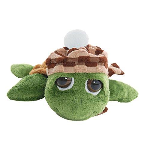 Li'l Peepers 28239 - Original Suki Plüschtier Schildkröte Rocky mit Mütze, 25.4 cm, grün