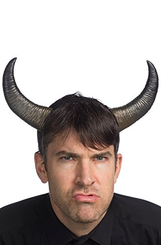 HMS Unisex-Adult's Supersoft Buffalo Horns, Black, one Size -