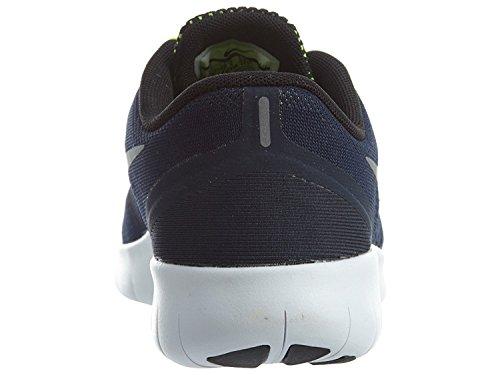 Nike Kids Gratuit Rn (gros) Obsidienne / Volt / Noir / Argent Métallique