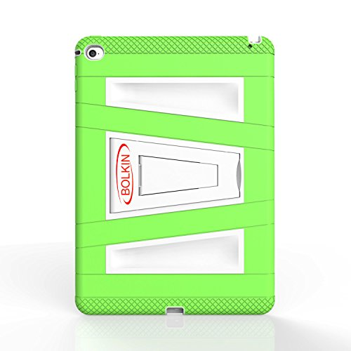 Bolkin® Hybrid Armor Series Shockproof Case Cover & Stand for Apple Ipad Air (Green)