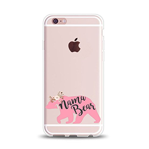 iPhone 6 Case for Her,iPhone 6s Case,Cute Couples Things for Girls Boys,PaPa Bear Mama Bear Princess & Prince Couple Matching Funny Love Parent Mom Women Soft Clear Case for iPhone 6s-Queen