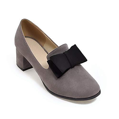 36 Sandales AN Femme Compensées 5 DGU00460 Gris Gris FaqR1
