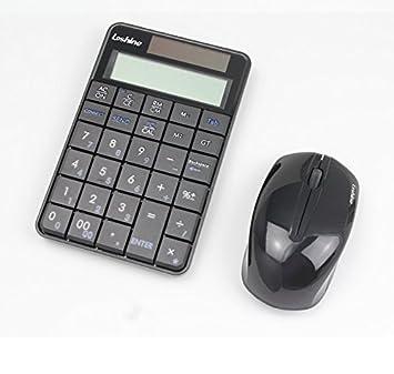 Pantalla LCD Calculadora teclado numérico 2 en 1 combo de calculadora teclado inalámbrico teclado numérico 29 ...