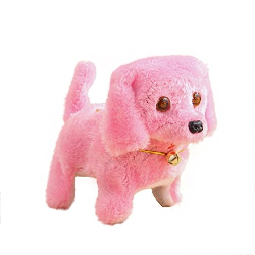 Balakie Cute New Robotic Cute Electronic Walking Pet Dog Puppy Kids Toy With Music Light Xmas Gifts for Kids (pink)
