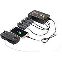 Drone Fans 5 in 1 Battery Parallel Charger Dual USB Charger Multi Remote Controller Charger for DJI SPARK