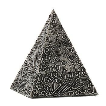 SORPRESA REGALOS Y DECORACION Sorpresaregalosweb. Caja Piramide Madera Gris Decorada 15x15x20 cm.: Amazon.es: Hogar