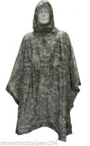 USGI ARMY ISSUE ACU DIGITAL WET WEATHER RAIN PONCHO 8405-01-547-2555