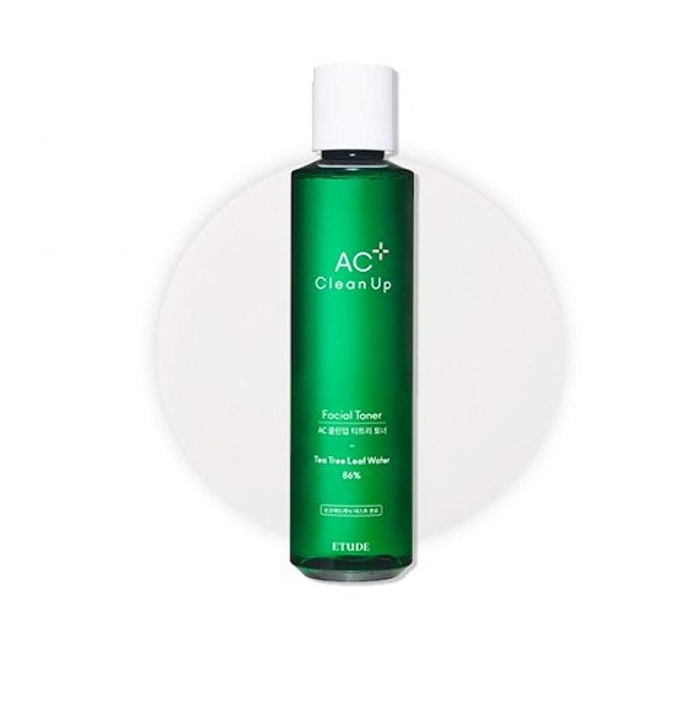 ETUDE HOUSE AC Clean Up Facial Toner 6.76 fl. oz. 200ml   Tea Tree Leaf Water Toner to Calm Down and Hydrate Troubled Skin   Acne Pron Skin