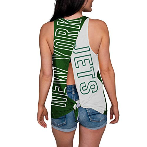 FOCO NFL New York Jets Womens Tie Breaker Tank Top ShirtTie Breaker Tank Top Shirt, Team Color, ()