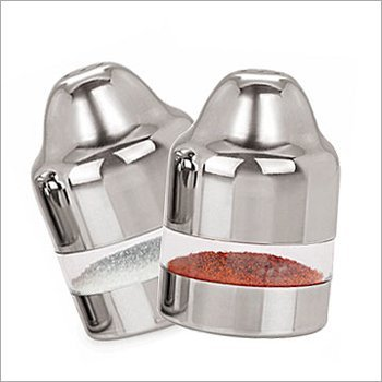 WhopperIndia Salt and Pepper Shakers Set with Pour Holes - Stainless Steel 4.70 Inch by WhopperIndia
