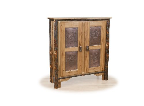 Panel Pie Safe - Rustic Hickory Double Pie Safe - HICKORY with TIN PANELS