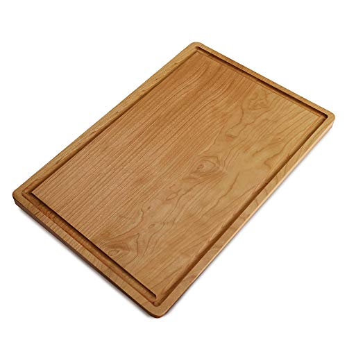 (Casual Home Delice Cherry Rectangle Juice Drip Groove Cutting Board, 17