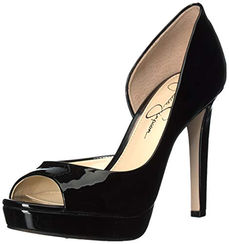Jessica Simpson Women's DEISTA Shoe, Black, 7.5 M US - Jessica Simpson Peep Toe Shoes