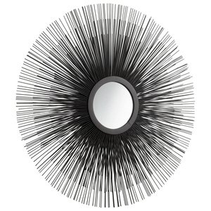 Cyan Lighting 05830 Triple Solar Flare - 24.5'' Decorative Mirror, Graphite Finish by Cyan lighting