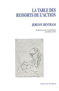 La table de ressorts de l'action par Jeremy Bentham