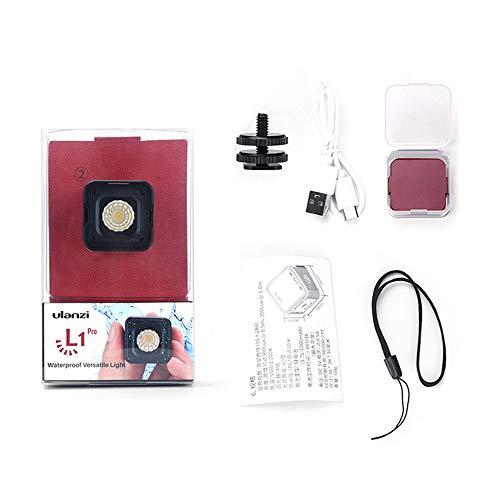 Docooler Ulanzi L1 Pro Versatile Mini Lampe Vidéo LED Étanche Dimmable 5500K Lumière de Remplissage Photographique CRI 95 avec 20 Filtres de Couleur pour GoPro 7/6/5 pour DJI Drones Osmo Pocket