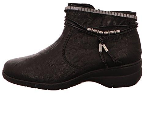 Rieker, L4362, Damen Halbschaftstiefel, schwarz (00) Schwarz
