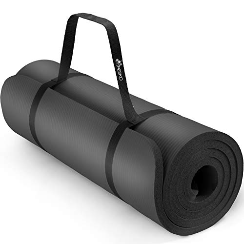 TRESKO® fitnessmat yogamat pilatesmat gymnastiekmat | 185 x 60 cm of 190 x 100 cm | 1 of 1,5 cm dikte | getest op…